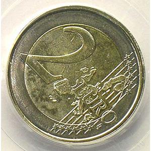 2 €   2006 Atomium   coins tournés 45° horaire    PCGS-MS64   pr.FDC