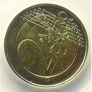 2 €   2006 Atomium   coins tournés 60° antihoraire    PCGS-MS64   pr.FDC
