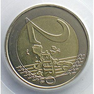 2 €   2006 Atomium   coins tournés 80° horaire    PCGS-MS64   pr.FDC