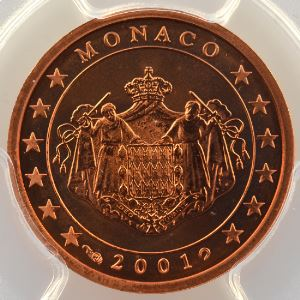 2 Cent   2001    PR67RD DCAM    BE