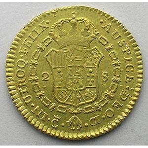2 Escudos   Ferdinand VII   (1808-1833)   1812 CI  (Cadix)    TTB+