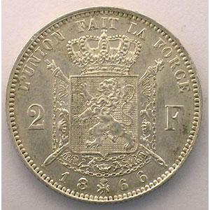 2 Francs   1866 A    TTB+/SUP