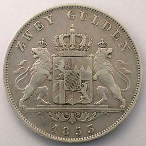 2 Gulden   1853    TTB