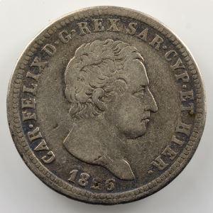 2 Lire   Charles-Félix (1821-1831)   1826 P ancre  (Gênes/Genova)    TB/TB+