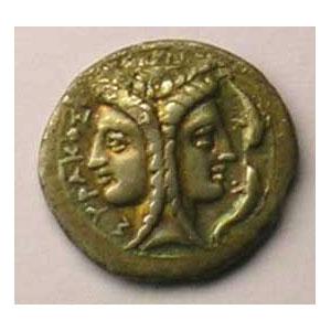 2 Litrae   (époque de Timoléon 344-317 av.JC)    TTB