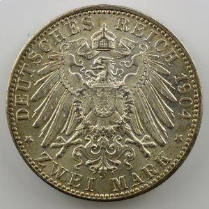 2 Mark   1904 D (Münich)    SUP/FDC
