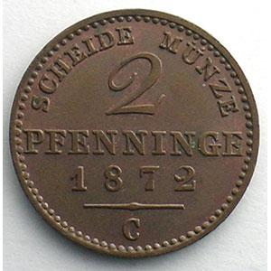 2 Pfennige   1872 C    SUP/FDC