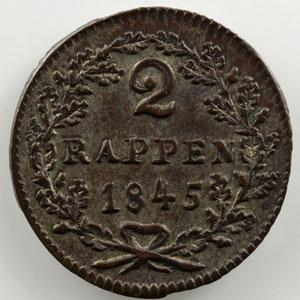 2 Rappen   1845    SUP