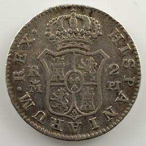 2 Réales   1780 PJ   (Madrid)    TB+