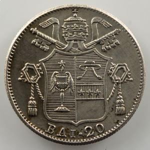 20 Baiocchi   1834 (Rome)  Année IV    TTB