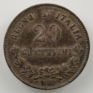 20 Centesimi   1863 M BN  (Milan/Milano)    TTB+