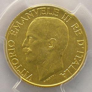 20 Lire   1923  R  (Roma)    PCGS-MS61    SUP/FDC