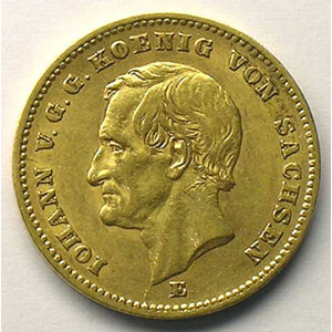 20 Mark   1872 E  (Dresde)    TTB