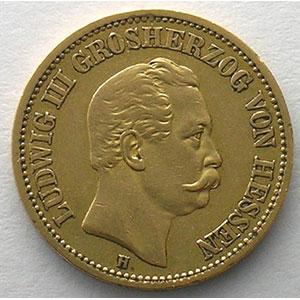 20 Mark   1872 H  (Darmstadt)    TTB