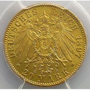 20 Mark   1897 A    PCGS-MS64    pr.FDC