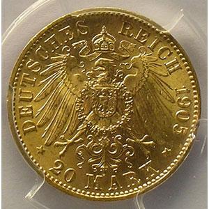 20 Mark   1905 E    PGCS-MS64    pr.FDC