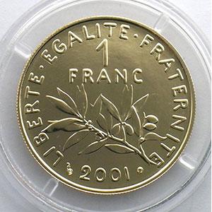 2001   épreuve or    BU