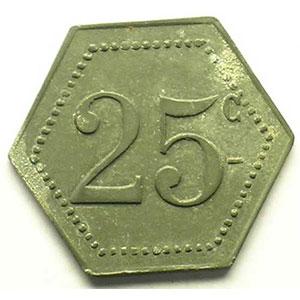 25 c   Zn,6  21 mm    TTB