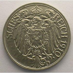 25 Pfennig   1910 E    SUP