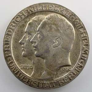 3 Mark   1910 A   100° anniversaire de l'Université de Berlin    TTB+/SUP