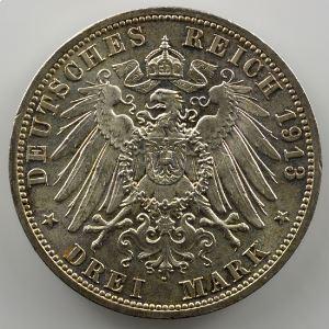 3 Mark   1913 A   (1888-1913)    SUP/FDC