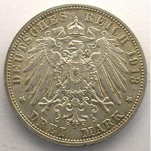 3 Mark   1913 E  (Dresde)    SUP