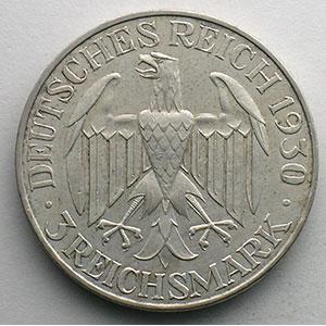 3 Reichsmark   1930 A  Zeppelin    TTB+