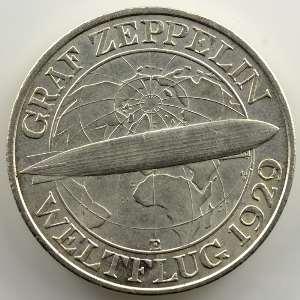 3 Reichsmark   1930 E  Zeppelin    TTB+