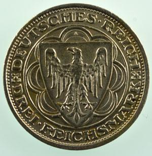 3 Reichsmark   1931 A   Magdeburg, Stadtbrand vor 300 Jahren    TTB+/SUP