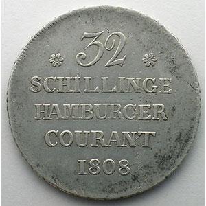 32 Schillinge   1808    TB+
