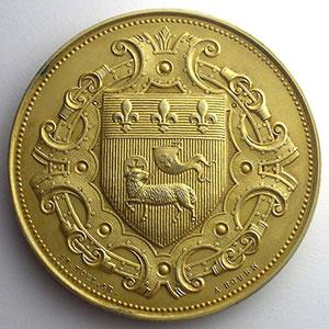 37° Exposition Municipale des Beaux-Arts   argent dorée  54mm    SUP