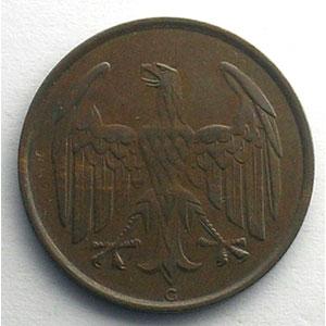 4 Reichspfennig   1932 G    TTB