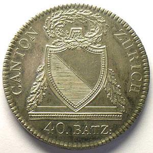 40 Batzen   1813 B    SUP