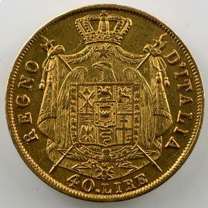 40 Lire Napoléon I   1810 M  (Milan)    TTB+