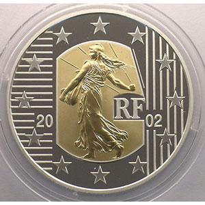 5 €   2002   Adieu au Franc   or/argent    BE