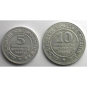5, 10 Hundertstel Gutschrifts Marke   1923    TTB+/SUP