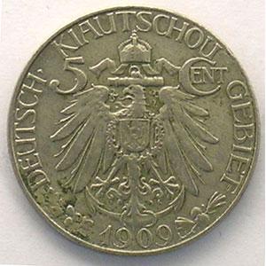 5 cent.   1909 (A)    TTB