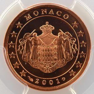 5 Cent   2001    PR65RD DCAM    BE