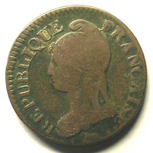 5 cent.   Directoire   avers    TB+