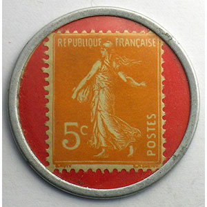 5 Cent. Orange/Rouge    SUP/FDC