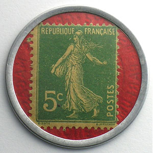 5 Cent.  Vert/rouge    SUP