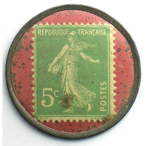 5 Cent.  Vert/rouge    TB+/TTB