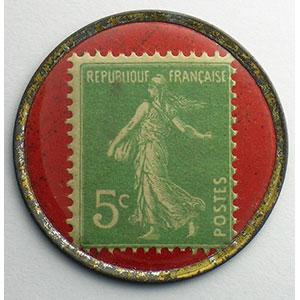 5 Cent.  Vert/rouge    TTB+