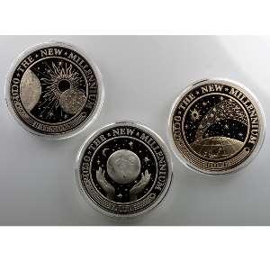 5 Dollars, 10 Dollars, 20 Dollars   Harmonie, Espoir, Foi   2000    FDC