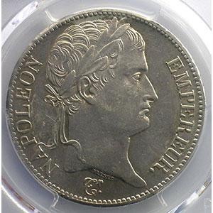5 Francs   1811 A   coins tournés à 30° anti-horaire    PCGS-AU55    TTB+/SUP