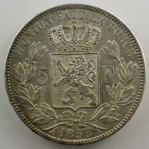 5 Francs   1853 A    TTB+/SUP