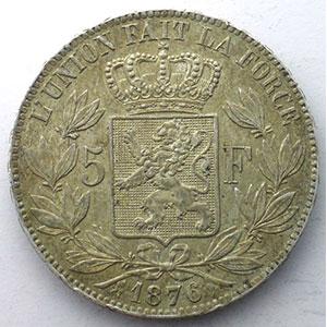 5 Francs   1876 position A    SUP