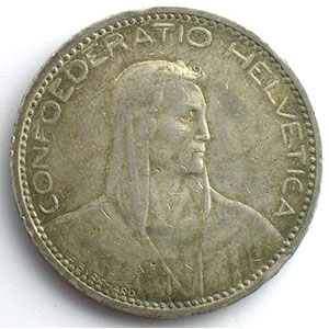 5 Francs   1923 B (Berne)    TTB