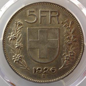 5 Francs   1926 B    PCGS-MS62    SUP/FDC