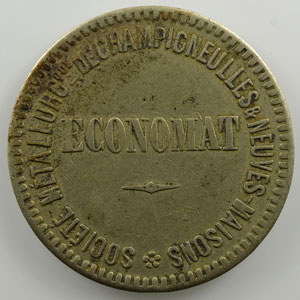 5 Francs   rond en maillechort  27mm   1889    TTB